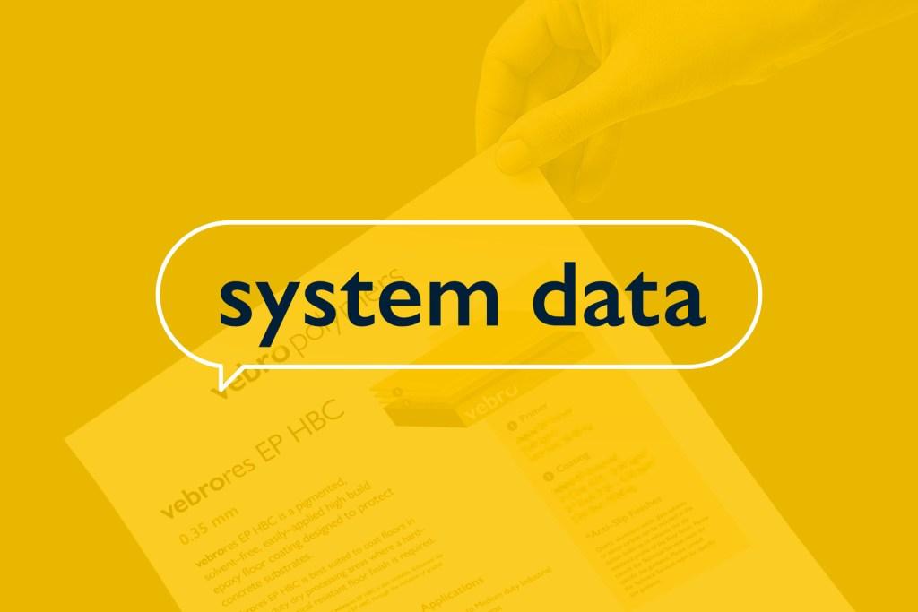 Vebro Polymers - System Data