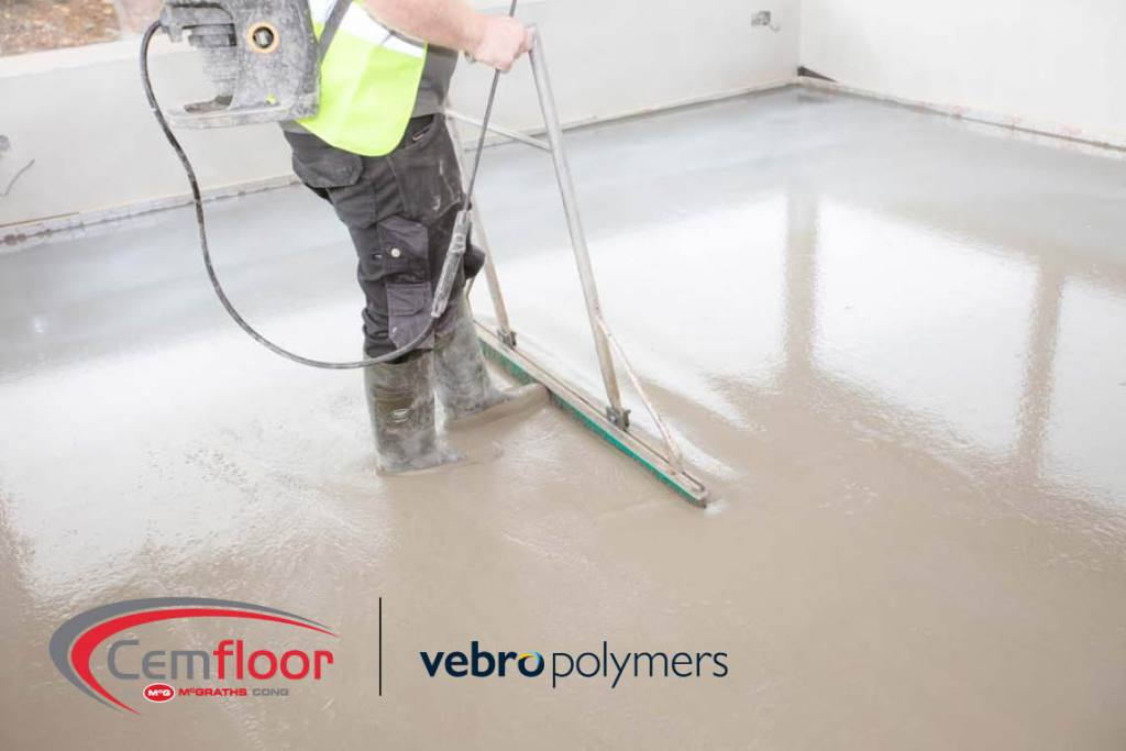 Vebro Polymers & McGraths Partner to Promote Cemfloor Liquid Screed to Specification
