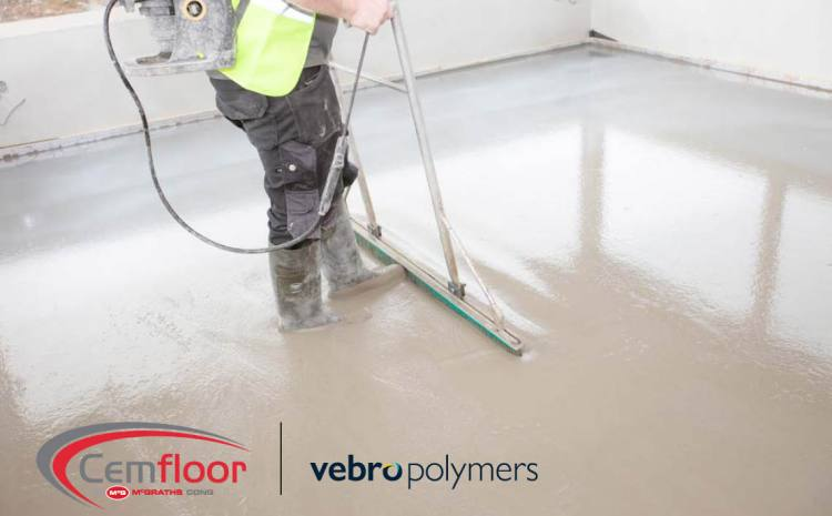 Vebro Polymers & McGraths Partner to Promote Cemfloor Liquid Screed to Specification Professionals