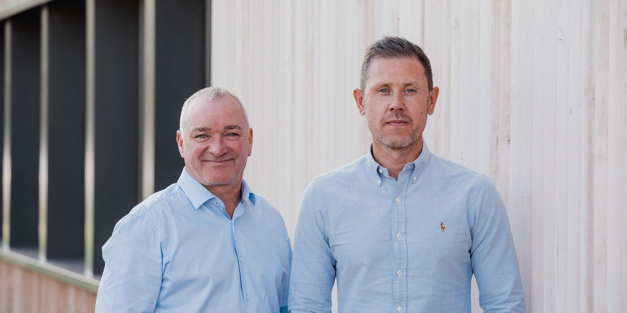 Co-founders of Vebro Polymers, Craig Brookes (left) and Mark Verinder (right)